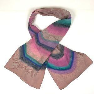 "Jane B Merritt Designs Silk Scarf Hand Dyed 10x52"""